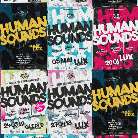Human Sounds Partyposter